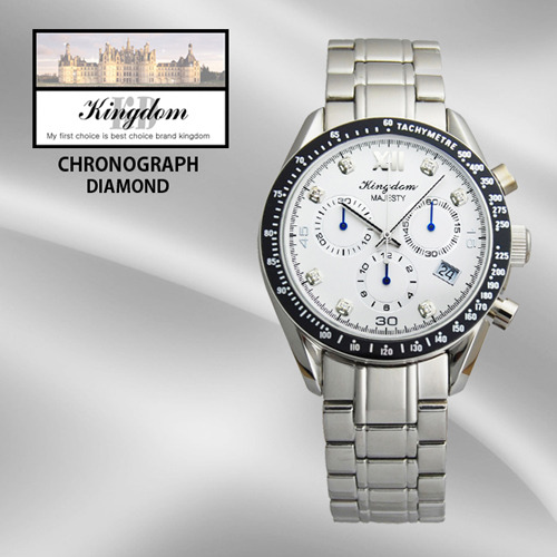 [KINGDOM] 킹덤명품시계/DIAMOND/CHRONOGRAPH/KD4050WM