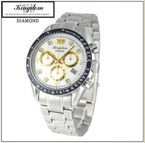 [KINGDOM] 킹덤명품시계/DIAMOND/CHRONOGRAPH/KD4050WD