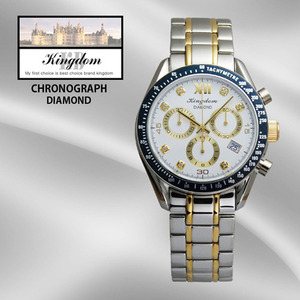 KINGDOM/킹덤명품시계/DIAMOND/CHRONOGRAPH시계/KD4050CWM